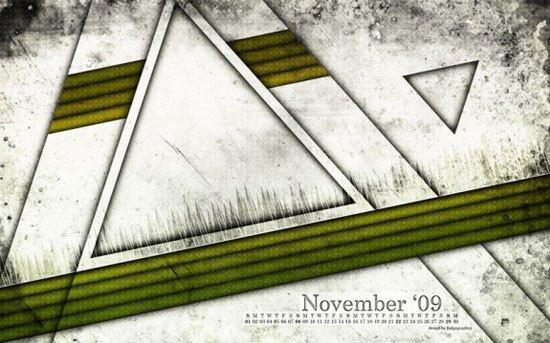Free November 2009 Calendar Wallpaper