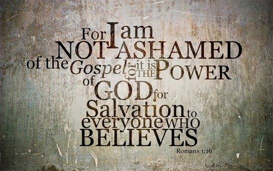 Romans 1:16 wallpaper