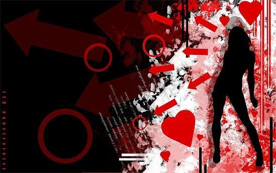 Grunge Silhouette Wallpaper