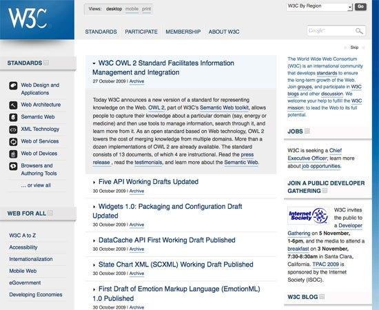 W3C (2009)