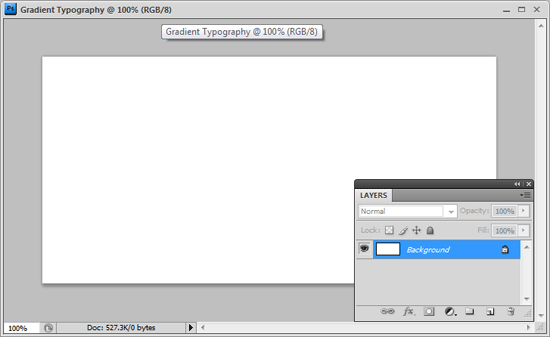Set up the Photoshop document