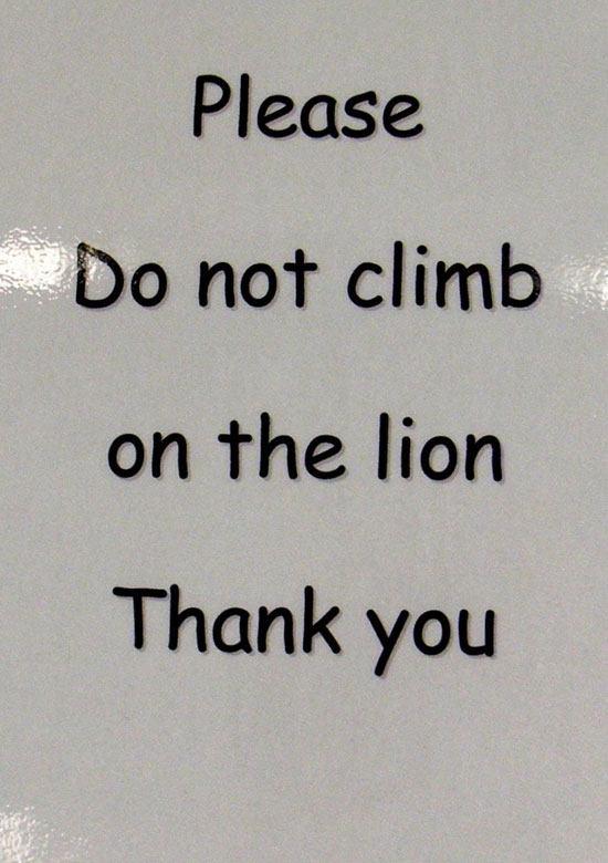 Do not climb