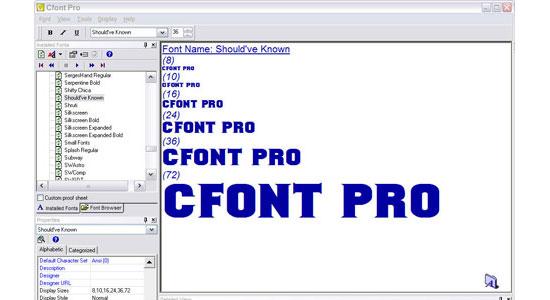 Cfont Pro (Windows)