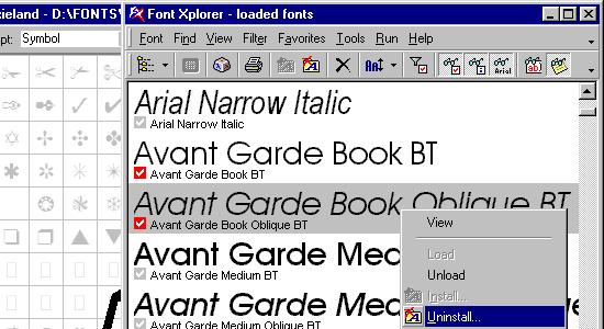 Font Xplorer (Windows)
