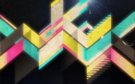Retro Geometric Vectors in Space with Illustrator and Photoshop