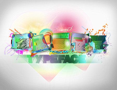 3D Typography Tutorial in Photoshop & Illustrator