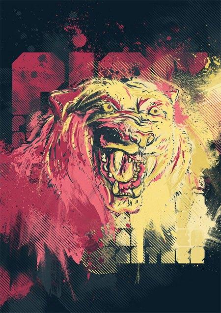 Create a Furious Pink Panther Poster