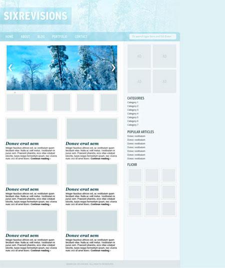 Create a Winter Theme Web Design in Photoshop