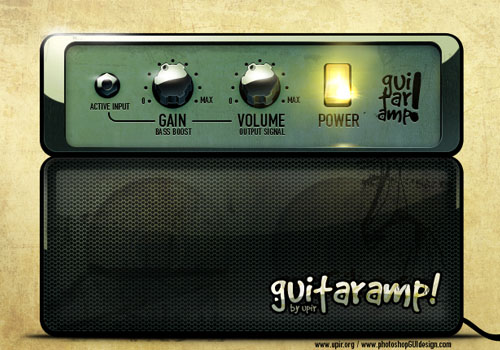 GUI design - guitar combo amp