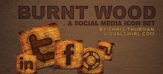 Burnt Wood: A Social Media Icon Set