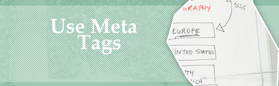 Use Meta description tags