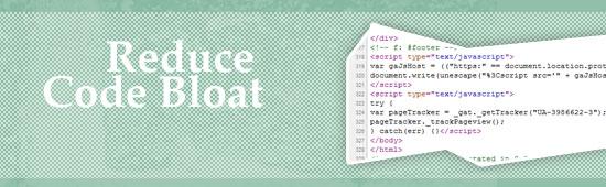 Reduce code bloat