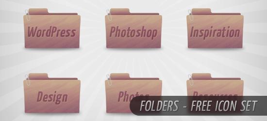 Folders: A Free Icon Set