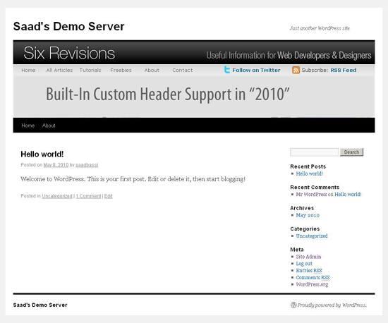 Custom Header Support in WordPress 3.0