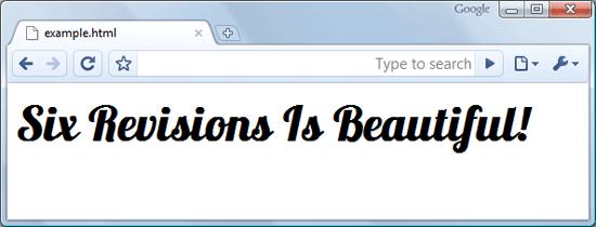 Example of Using Google Font API