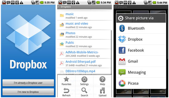 Dropbox (free)