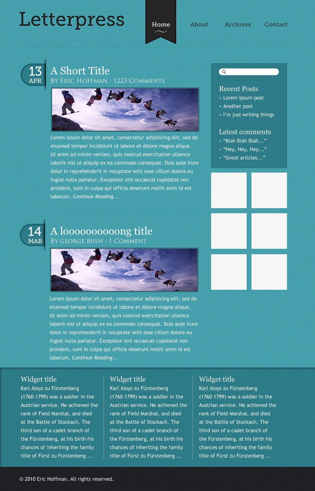 Make an elegant and simple blog web layout using photoshop elegant and simple blog web layout tutorial series baditri Choice Image