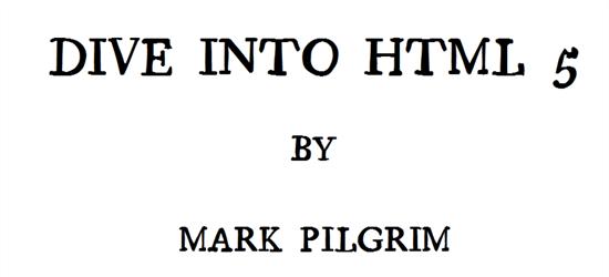 Dive Into HTML 5