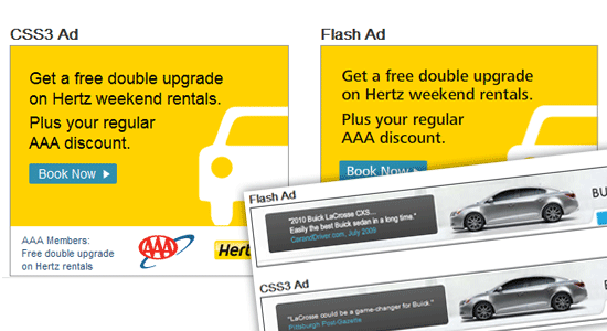 CSS3 Ads Versus Flash Ads