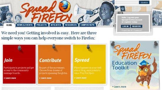 Spread Firefox