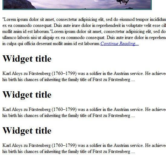 Sidebar Web Banners