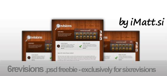 Free PSD Template: 6R Wooden Portfolio