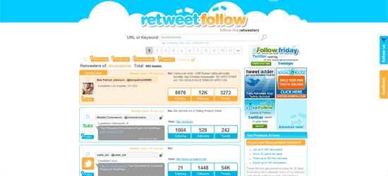 RetweetFollow