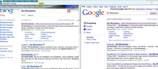 Bing SEO versus Google SEO