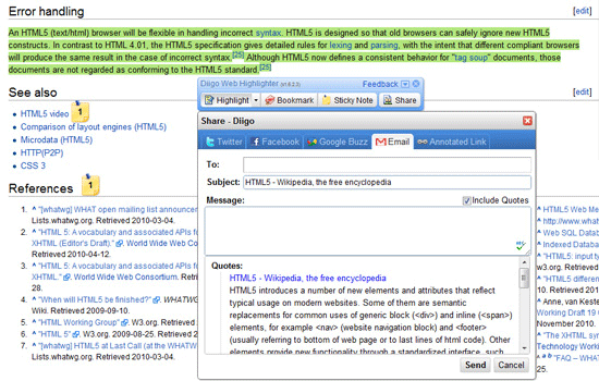 Diigo Web Highlighter and Bookmark