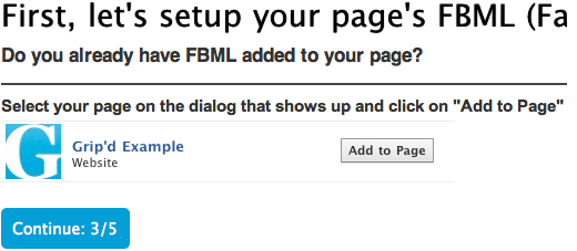 Grip'd Custom Facebook Tab Creator