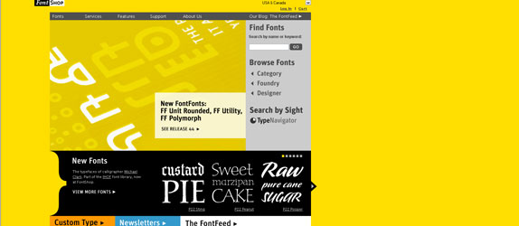 FontShop - http://www.fontshop.com/
