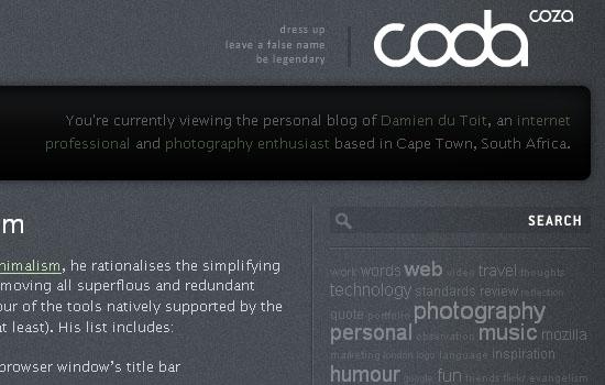coda.coza - Screenshot
