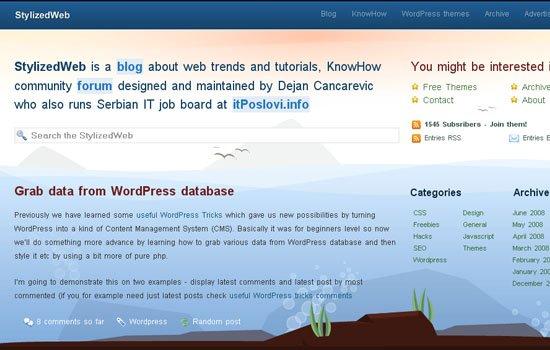 Stylized Web - Screenshot