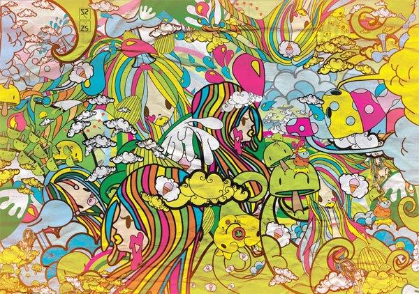 """""""Bubble Gum Chaotic Landscape"""" by Zena Santos"""