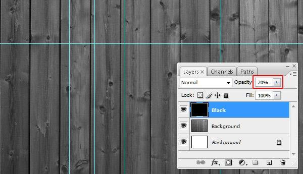 Create the Dark Wooden Background