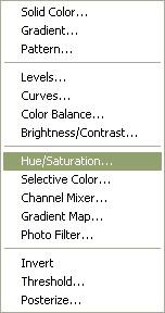 Adjust the saturation