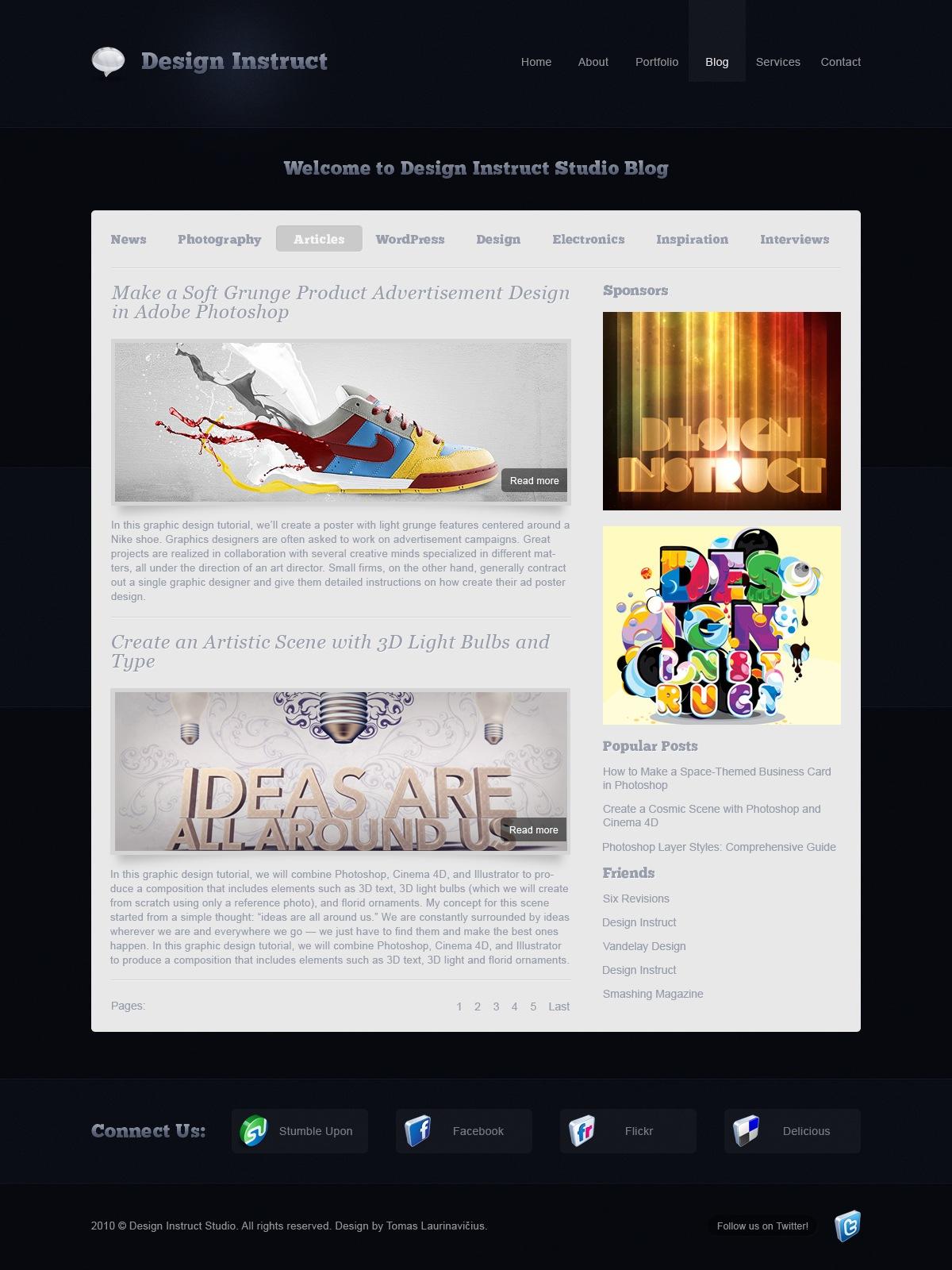 Create A Modern And Sleek Blog Design In Photoshop