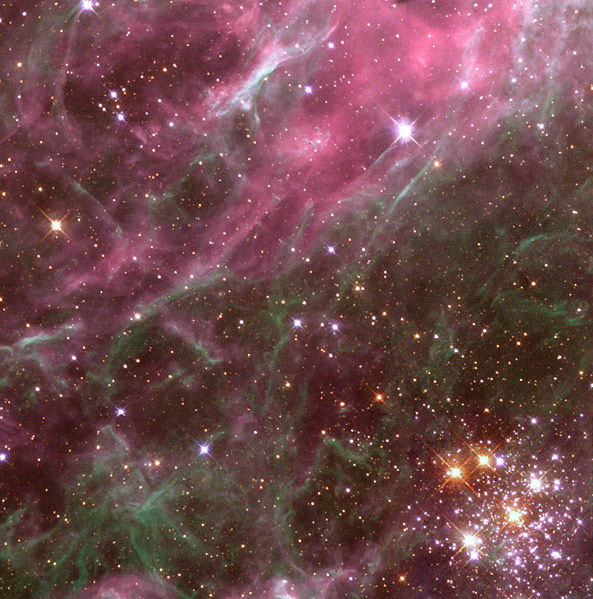 Tarantula nebula detail