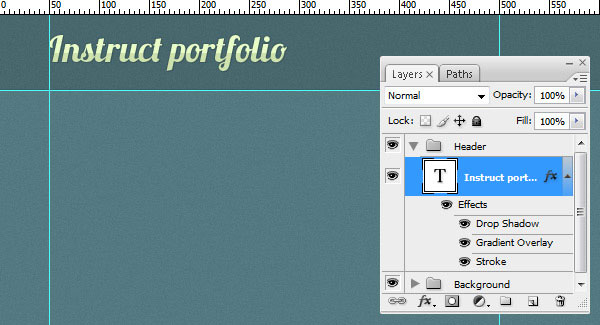 Create the Layout's Header