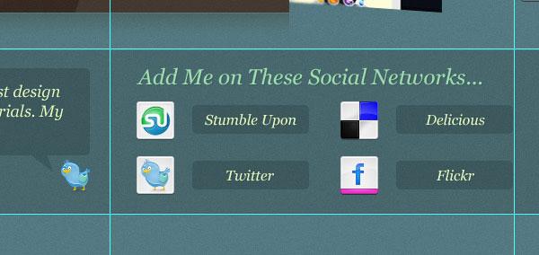 Create the Social Media Area