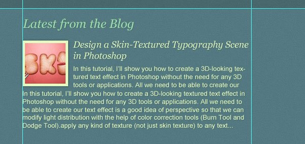 """Designing the """"Latest from the Blog"""" Area"""