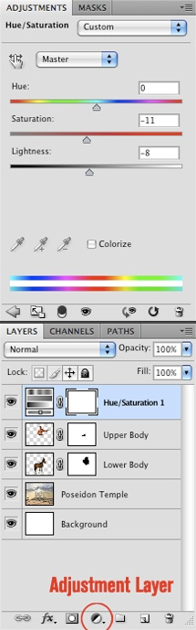 Hue/Saturation Adjustments