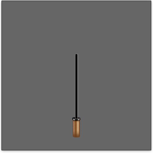Create the umbrella pole