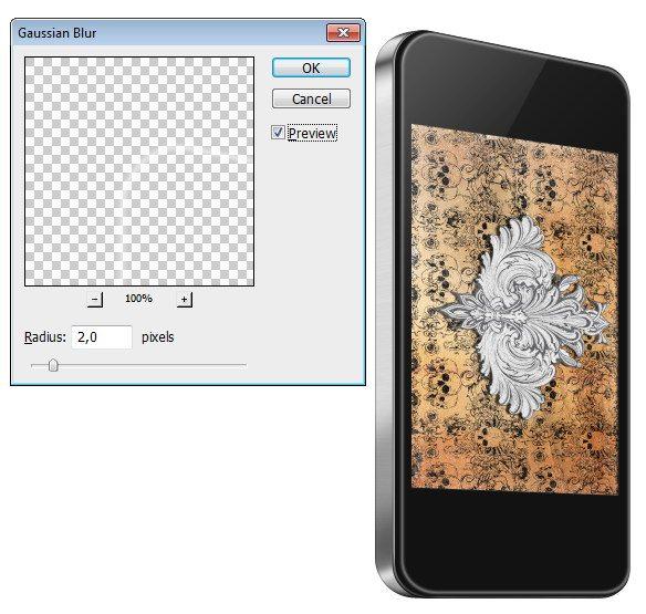Create an Edge Highlight on the iPhone Face's