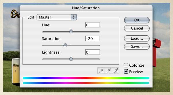 Adjusting the Color