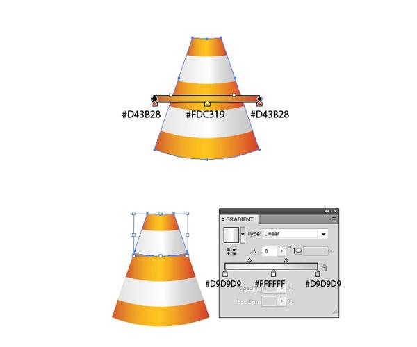 Create the Cone Stripes