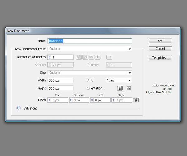 Create the Illustrator Document