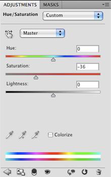 Hue/Saturation Adjustment