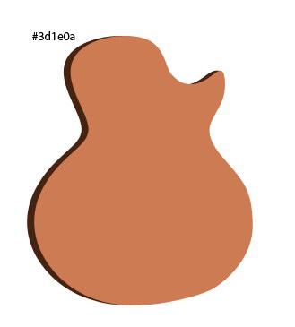 Draw the Guitar's Body Shape