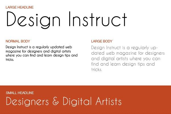 font collection 10 free thin sans serif fonts